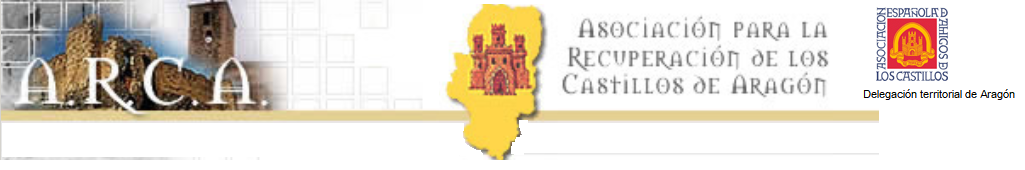 Resultado de imagen de logo asociación para la recuperación de los castillos de aragon